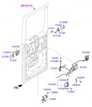 Механизм запирания задней распашной дверью