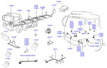Жгут проводов - шасси и мост