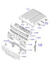 панель передняя и панель крыши