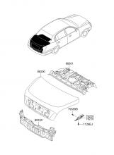 Крышка багажного отделения и панель задка