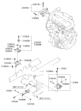 Подвеска двигателя и коробки передач