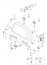 механизм двери багажника