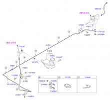 Шланг и трубопровод гидропривода сцепления