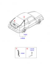 проводка двери багажника