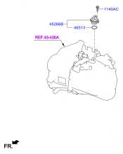 Ведомая шестерня привода спидометра
