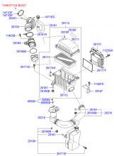 Воздушный фильтр и патрубок
