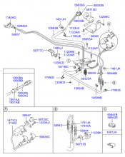 Трубопроводы системы привода кабины
