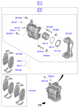 Тормозной механизм переднего колеса