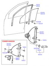 регулятор стекла двери передней и стекло