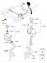 Бачок насоса гидроусилителя рулевого управления