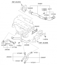 Шланг и трубопровод  охлаждающей жидкости