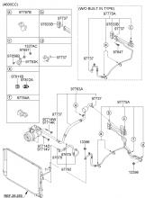 A/C SYSTEM - COOLER LINE, FRONT