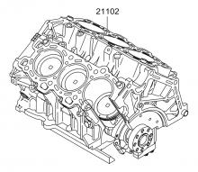 Короткоходный двигатель в сборе