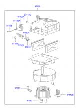 Климатическая установка - узел вентилятора