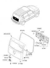 отделка двери багажника