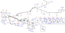 Трубопроводы гидропривода тормозов