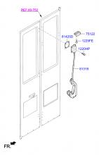 Механизм запирания задней складной дверью