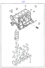 SHORT ENGINE ASSY (SOHC)