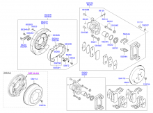 REAR WHEEL DISC BRAKE & PARKING BRAKE