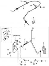 система контроля акселератора