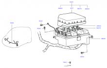 электропроводка отсека двигателя