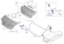 Облицовка крышки багажного отделения