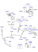 Шланги усилителя рулевого управления и кронштейн