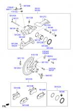 Дисковый тормозной механизм переднего колеса