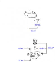 Лампа освещения номерного и внутреннего осв.
