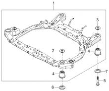 Подрамник передней подвески