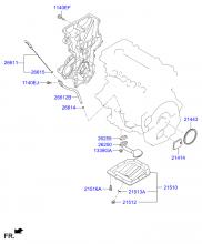 Крышка ременного привода и масляный картер