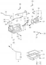 Картер  КП и привод переключения передач