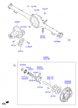 REAR AXLE ASSY & DRUM BRAKE ASSY