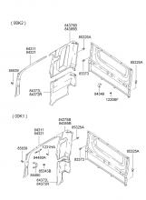 Внутренняя боковая облицовка и поручень