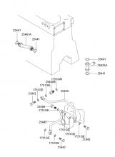 Шланг и трубопровод системы охлаждения двигателя