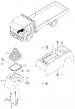 Чехол консоли и рычага переключения передач