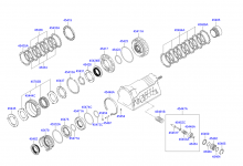 CENTER SUPPORT ASSY-ATM (30-43LE)
