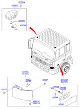 Блок-фара и боковой повторитель указателя поворота