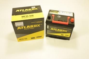 Аккумулятор (230*172*220) 60А (обратная полярность) Rio RUS/Solaris/Tucson/Spr New/SL/IX-35(нижн.кр) MF35550 ATLAS